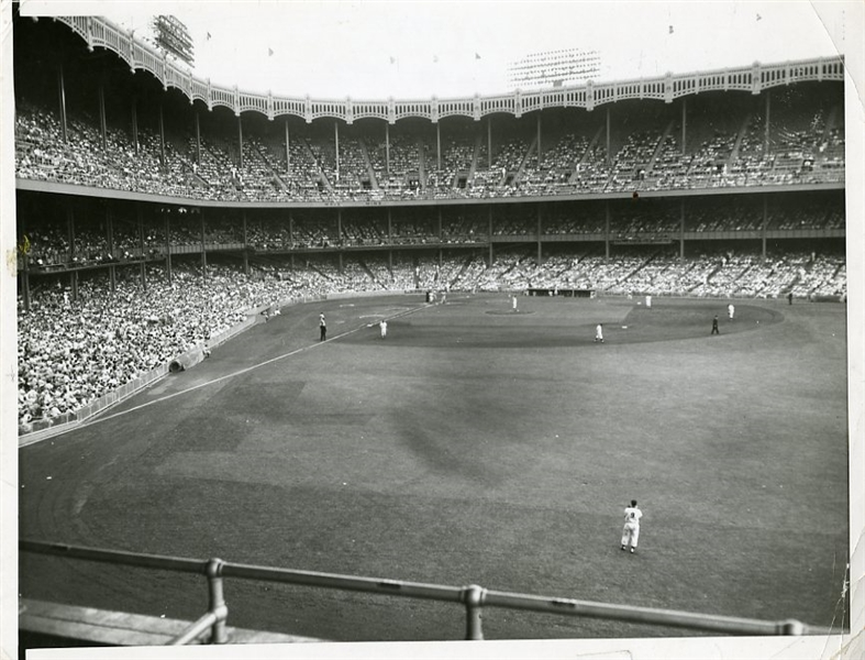 Yankee Stadium 1956 Original Press Photograph