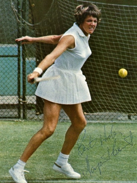 Margaret Court Signed & Inscribed Magazine Picture