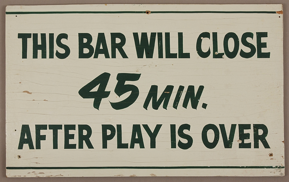 Original Vintage c.1970s Masters Tournament (Augusta) Bar Sign (19 X 12)