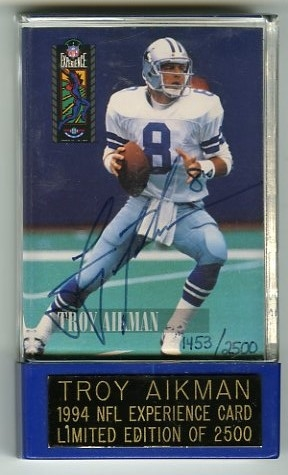 Troy Aikman Signed 1994 Limited Edition NFL Card