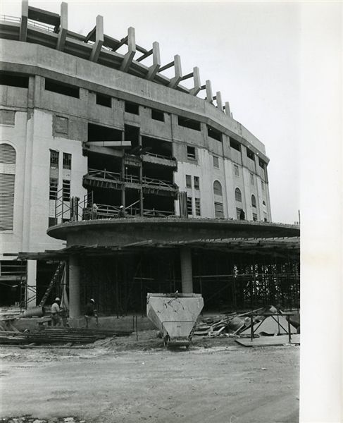 Original 1975 Yankee Stadium Renovation Photographs (Lot of 2)