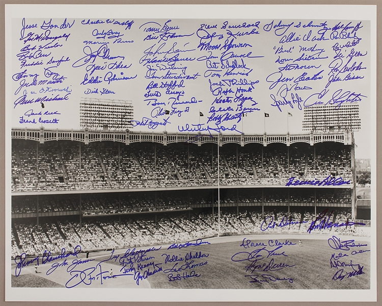 New York Yankees Oversize Stadium Photograph Signed by 77