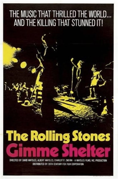 The Rolling Stones Gimme Shelter 1970 Original Movie Poster (27 X 41)