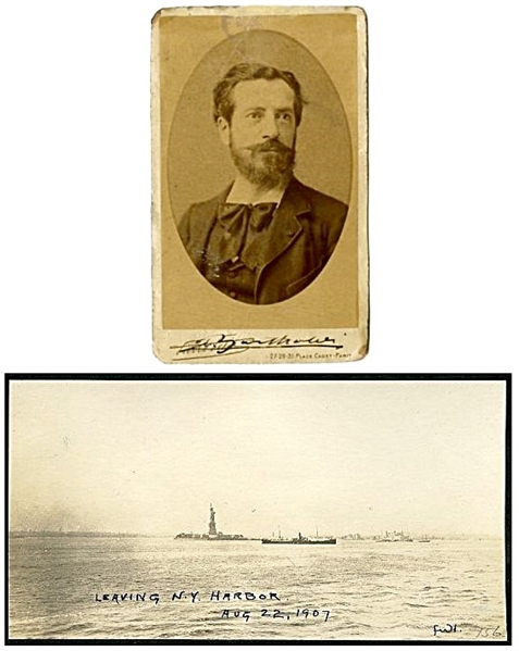 Frederic Auguste Bartholdi Signed CDV With Statue of Liberty Original Photograph