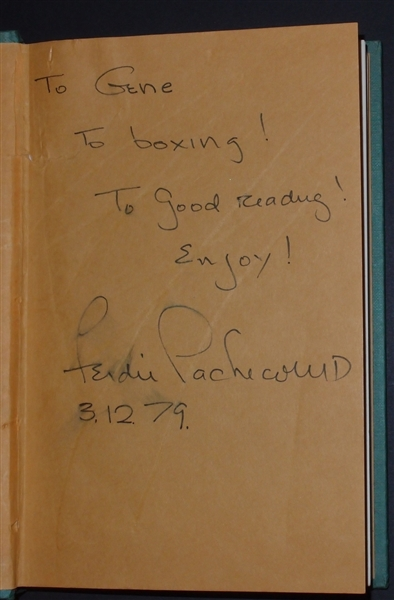 Ferdie Pacheco Signed & Inscribed Fight Doctor Book