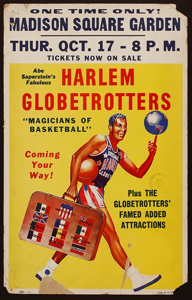 Historic Harlem Globetrotters Madison Square Garden Poster